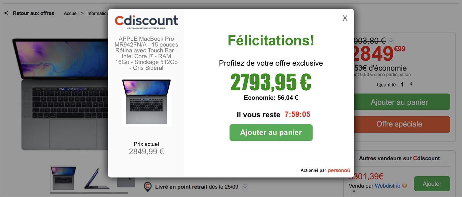 MacBook Pro offre spéciale CDiscount