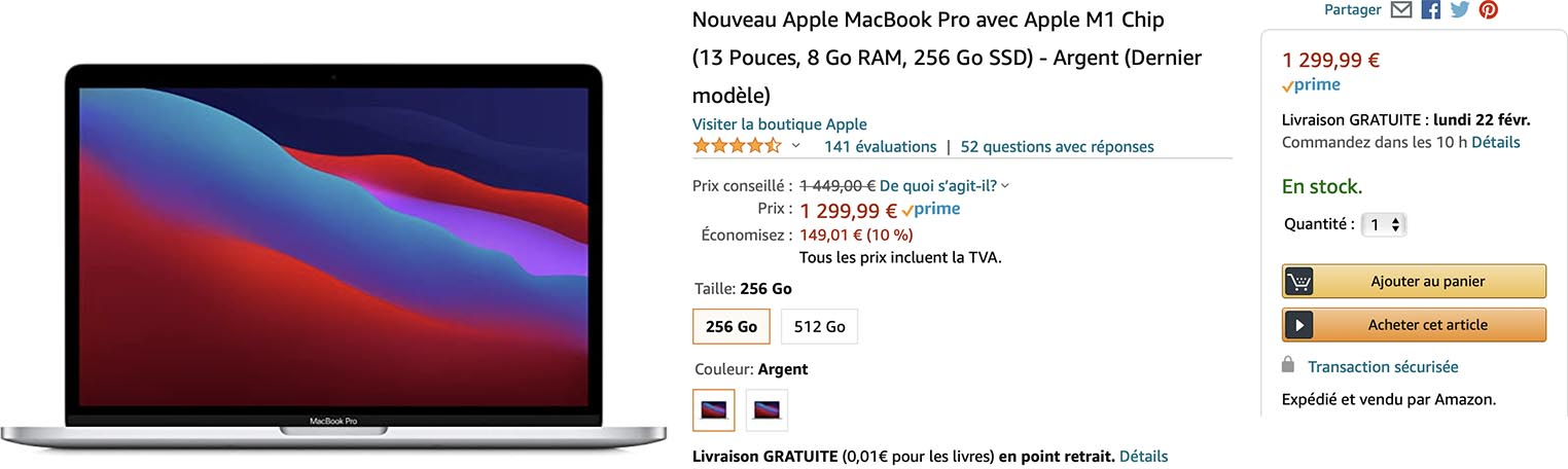MacBook Pro M1 promo Amazon
