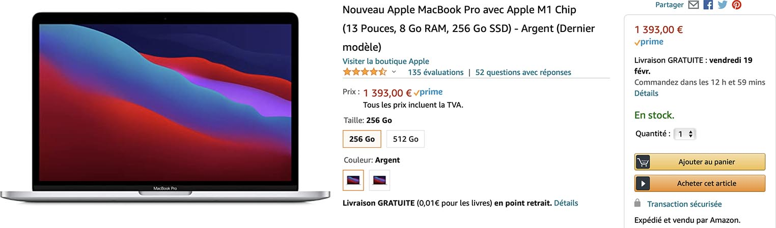 MacBook Pro M1 promo Amazon