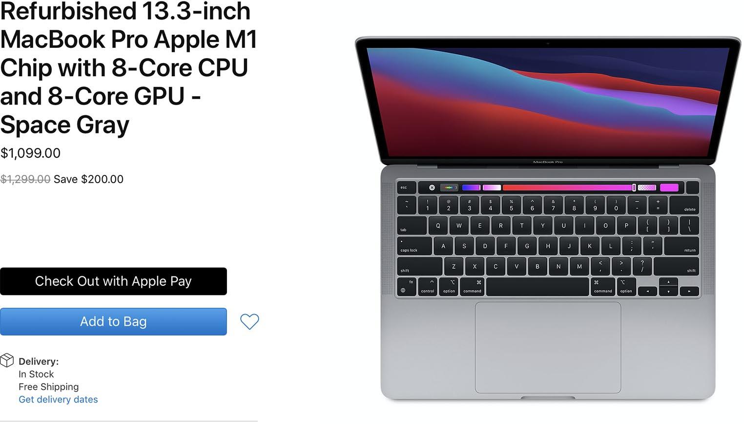 MacBook Pro M1 Refurb Store US