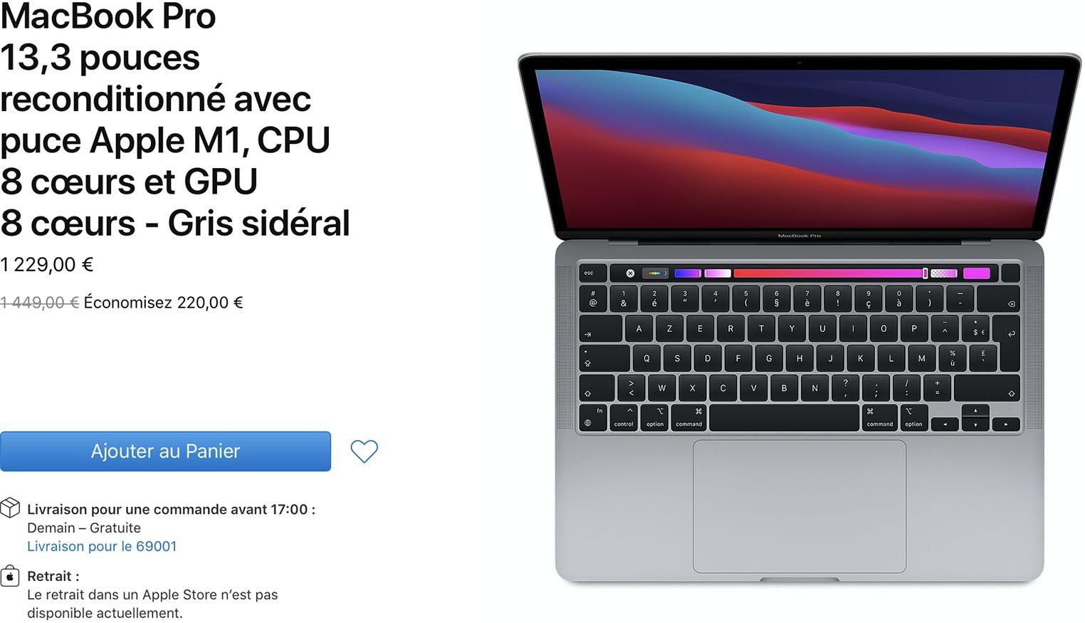 MacBook Pro M1 Refurb Store