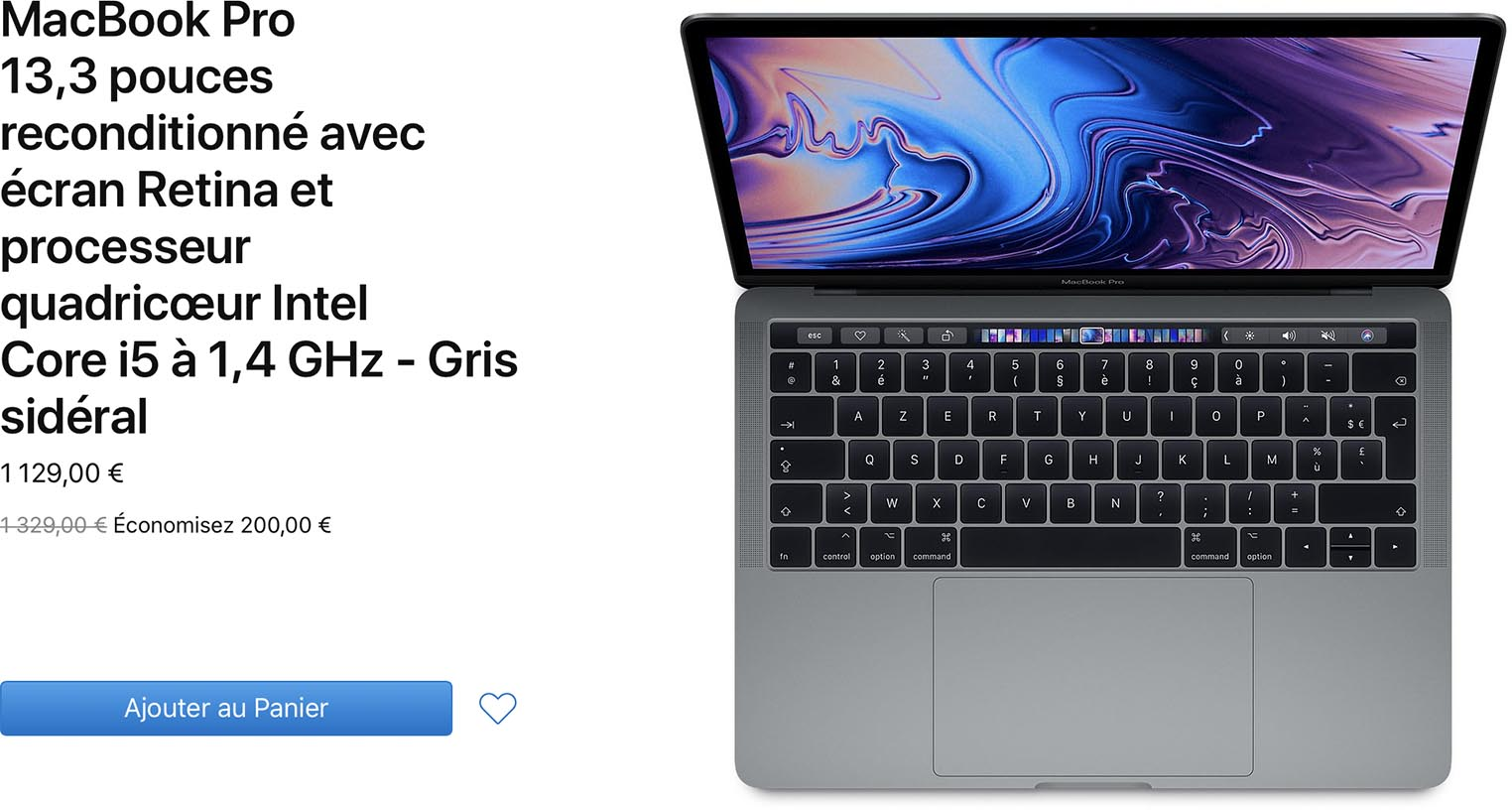 MacBook Pro 13 pouces Refurb Store