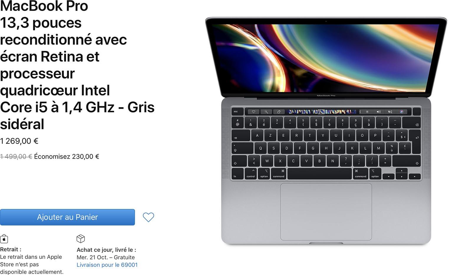 MacBook Pro 2020 Refurb Store