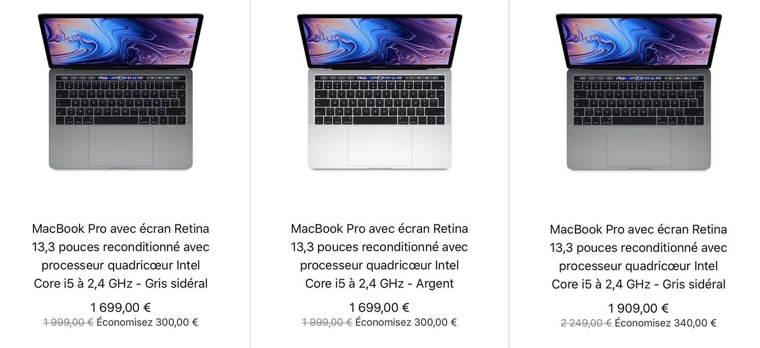 MacBook Pro 13 pouces 2019 Refurb Store