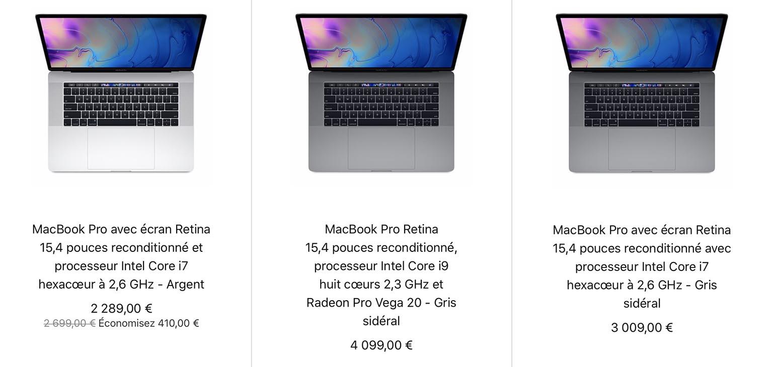 MacBook Pro 15 pouces 2019 Refurb Store