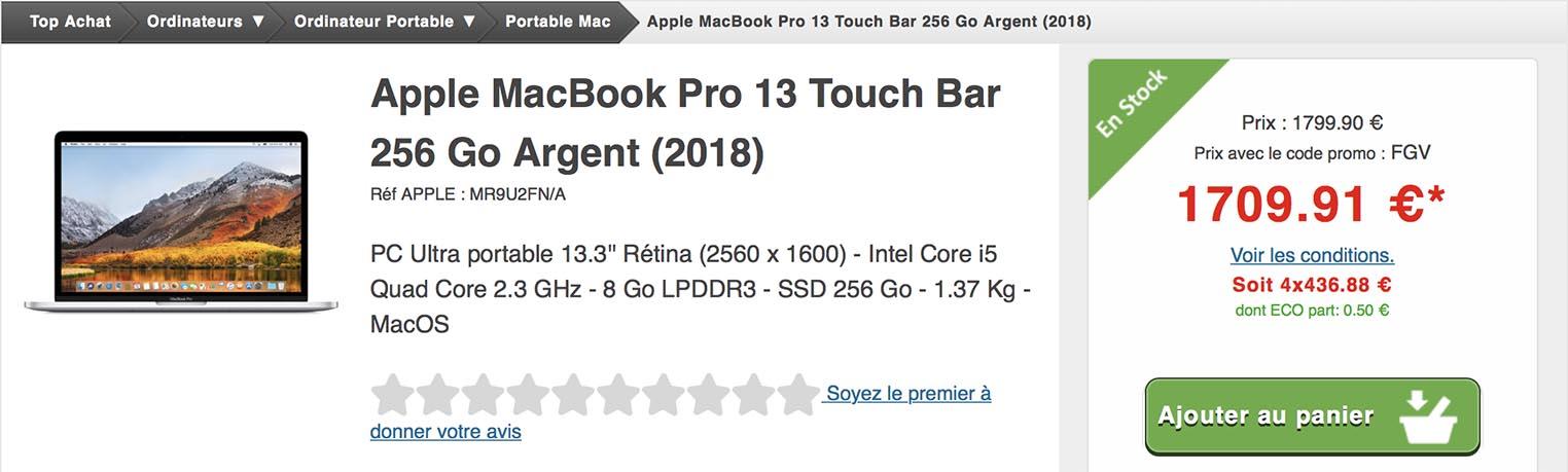 MacBook Pro vente flash Top Achat