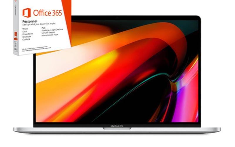 Jusqu'à -17,8% sur le MacBook Pro 16'' !