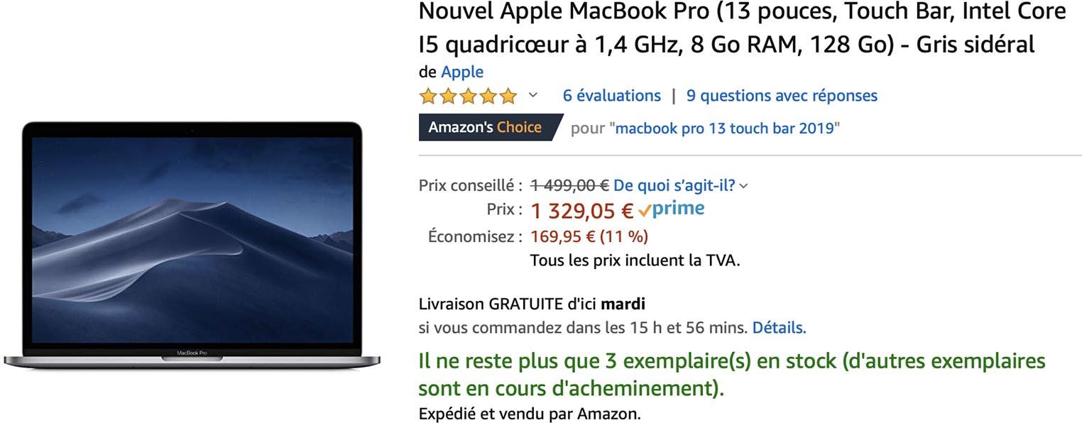 style de la mode de 2019 plus près de recherche d'officiel Consomac : Jusqu'à -15% sur le MacBook Pro de 2019
