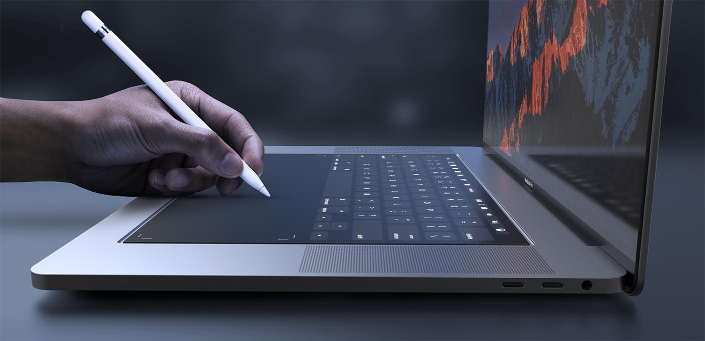 MacBook Pro clavier tactile concept
