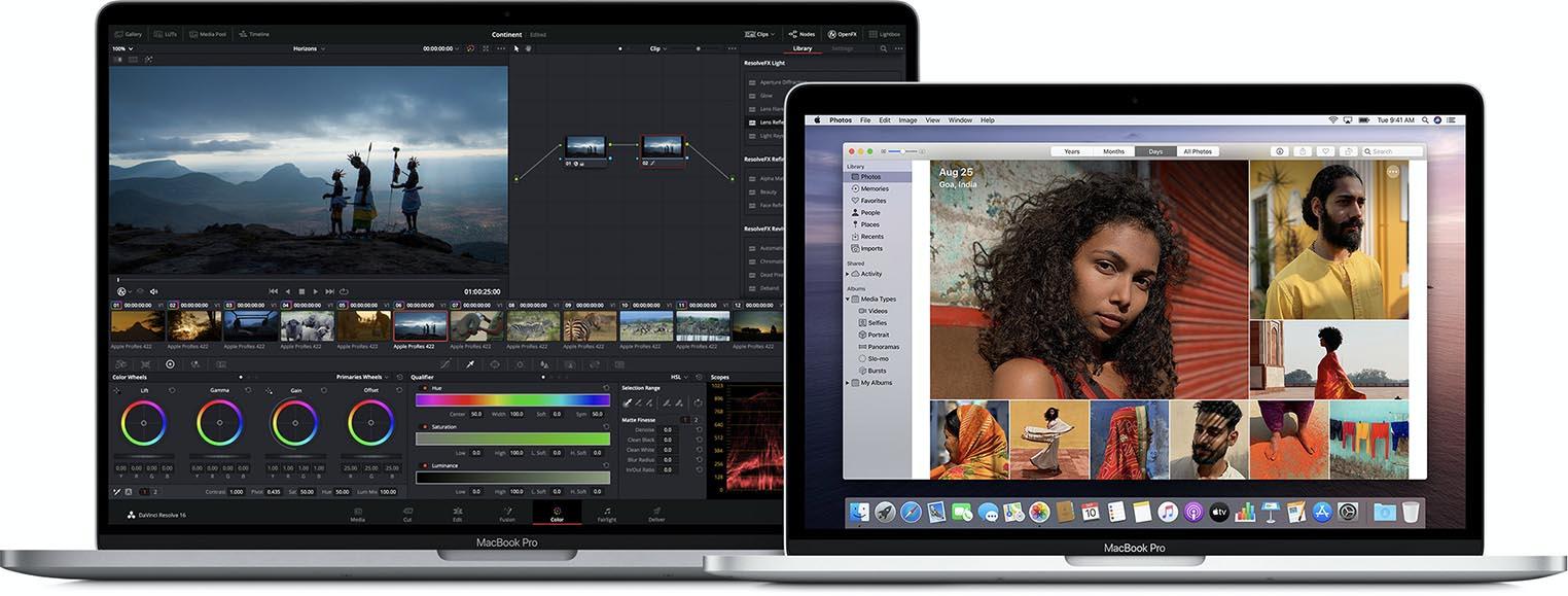 MacBook Pro 16 pouces MacBook Pro 13 pouces