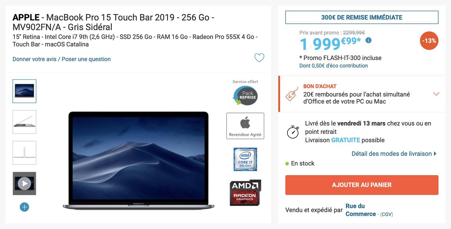 MacBook Pro 15,4 Rue du Commerce