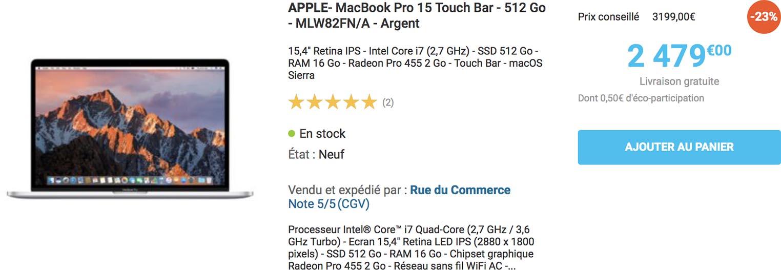 MacBook Pro 15 2016 Rue du Commerce