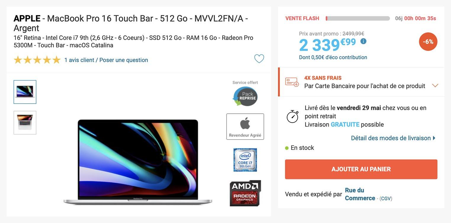 MacBook Pro 16 Rue du Commerce