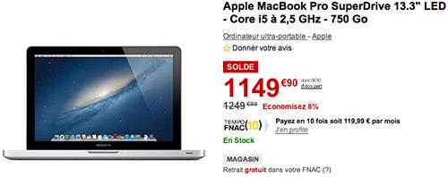 bonplan  macbook pro bonne affaire a la fnac
