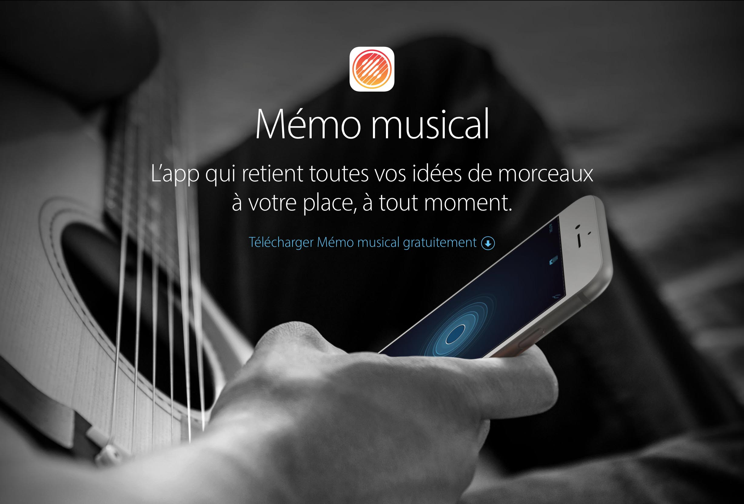 Apple Mémo Musical app