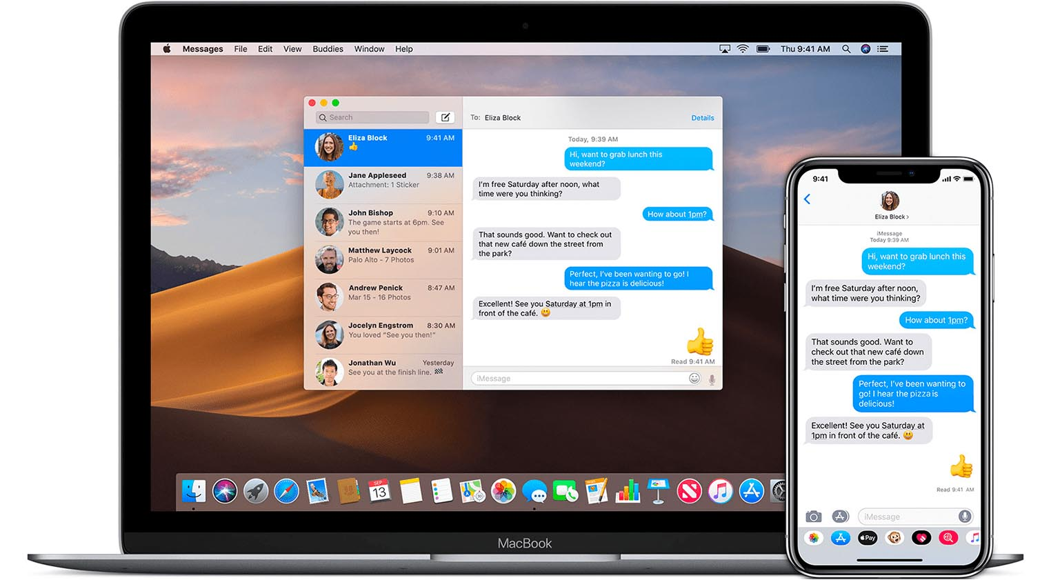 Messages macOS iOS