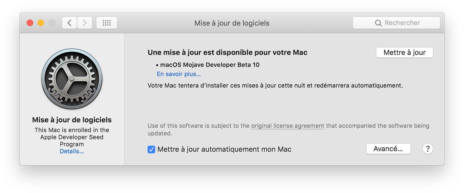 macOS Mojave Beta 10