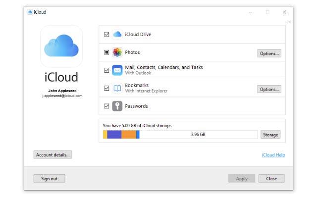 iCloud pour Windows 12.0