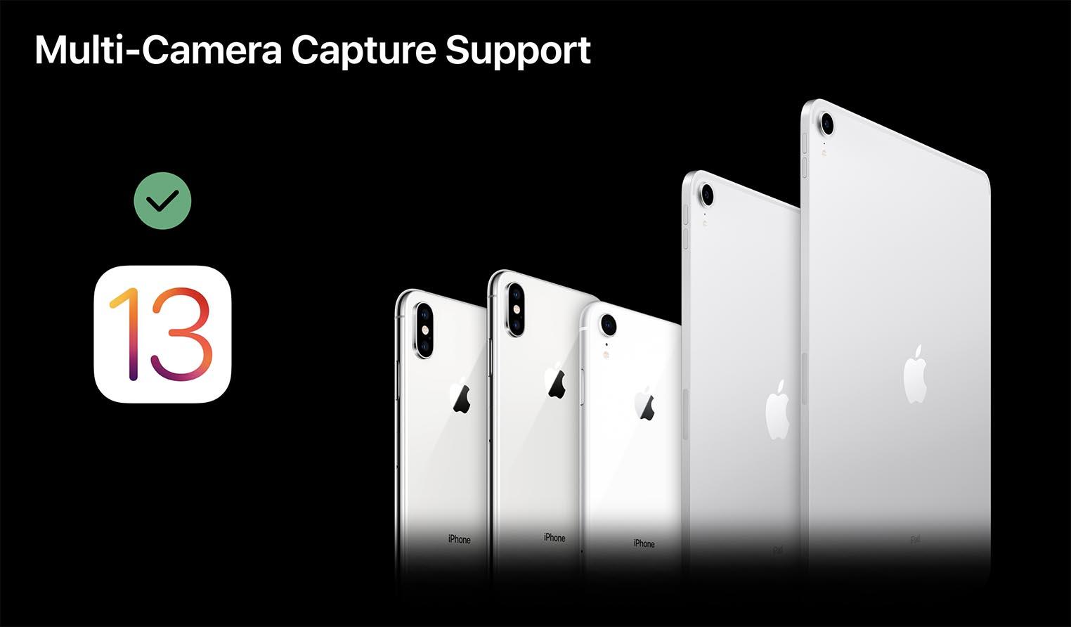 iOS 13 Capture multi-caméra