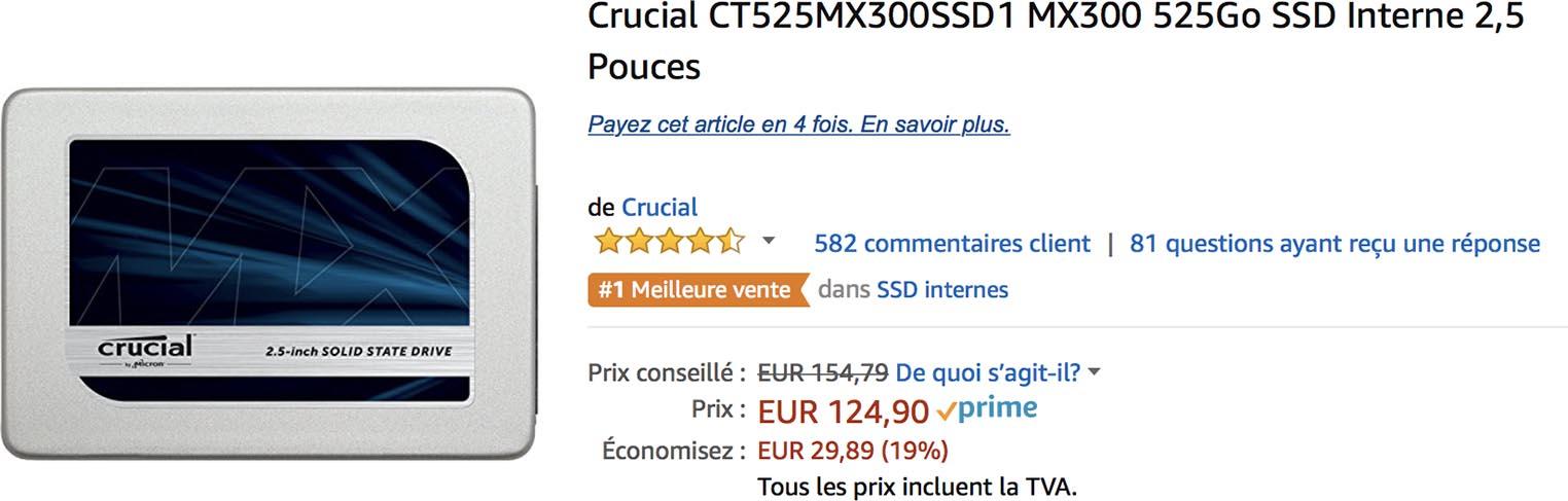 SSD MX300 Amazon