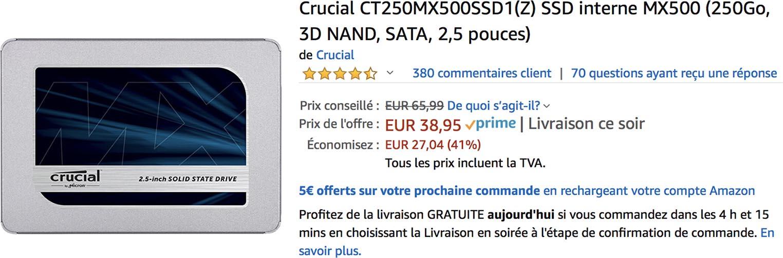 MX500 Amazon