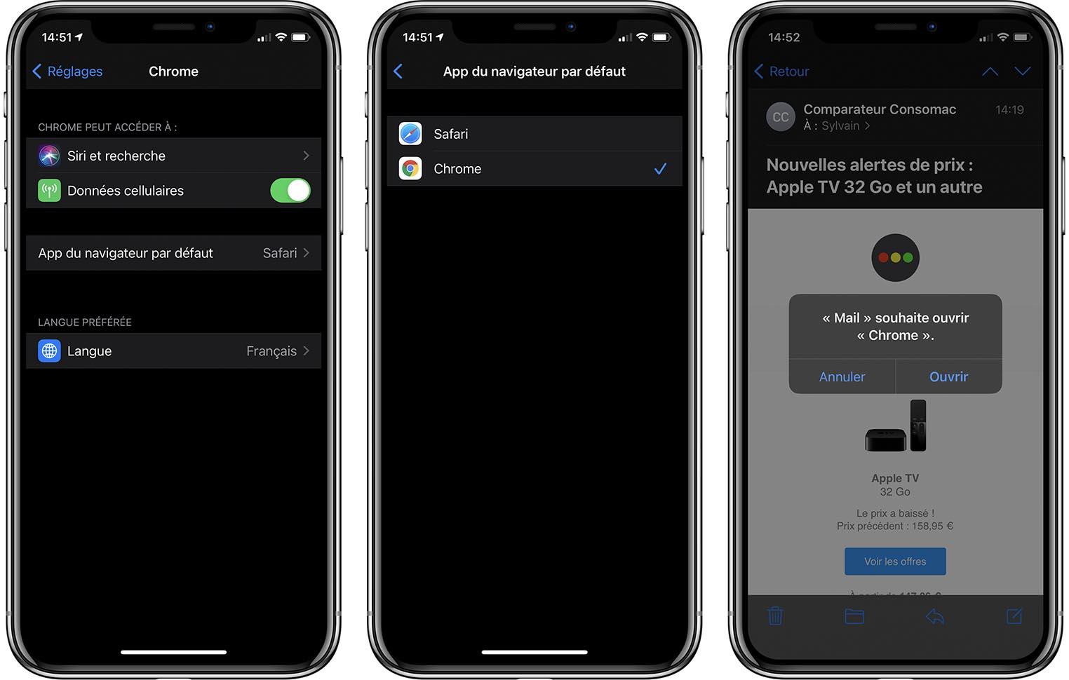 Navigateur par défaut iOS 14