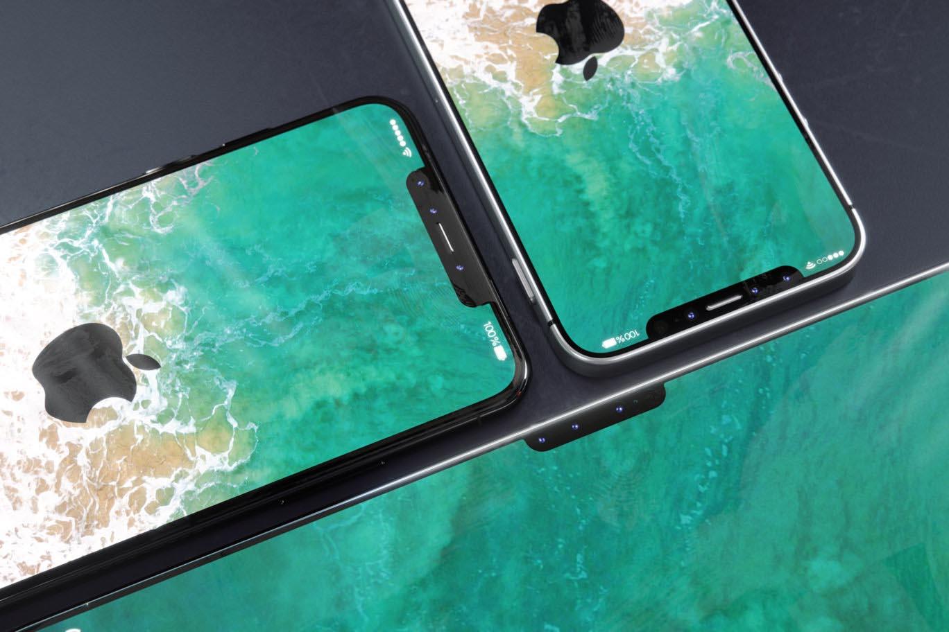 iPhone X notch concept