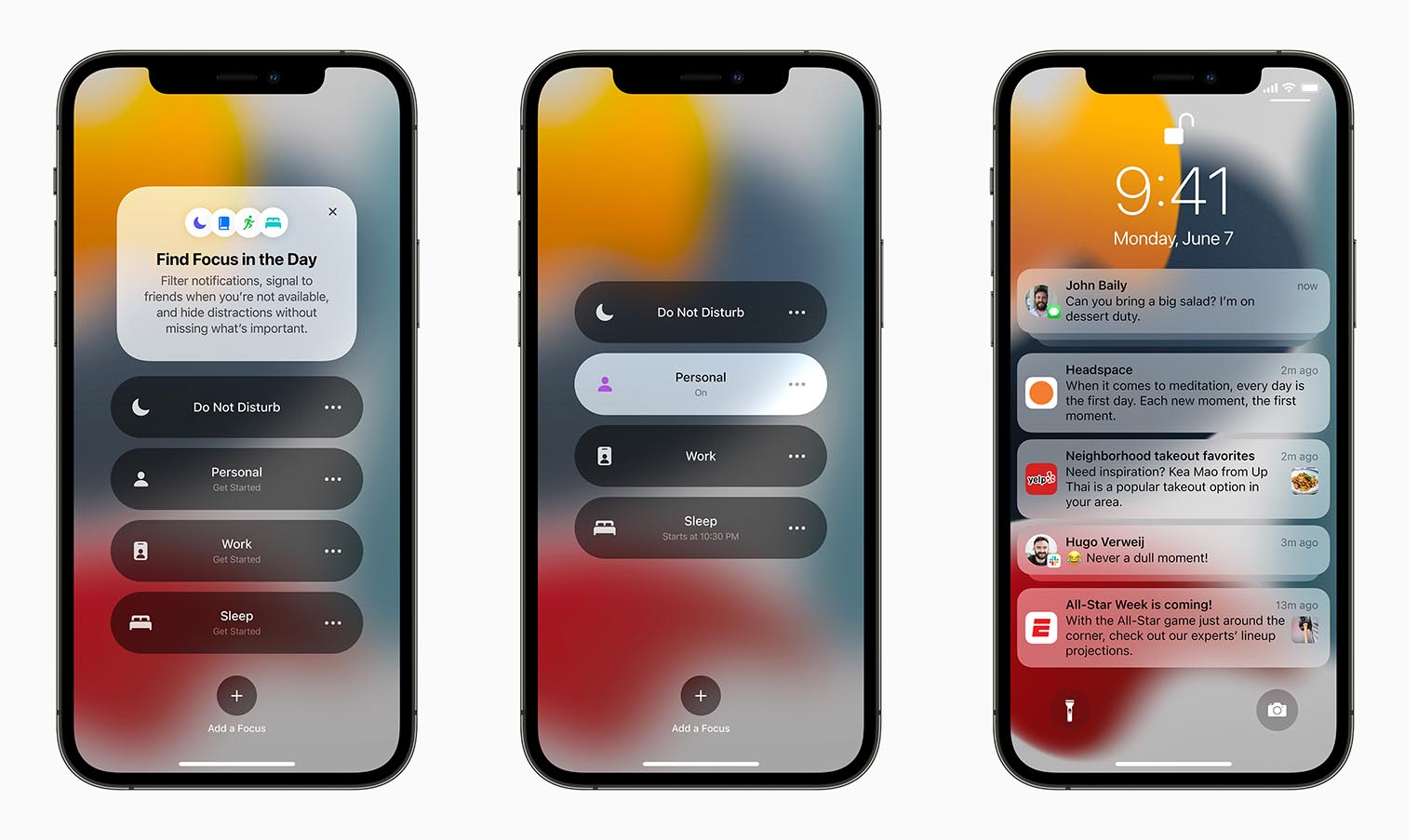 iOS 15 Concentration notifications