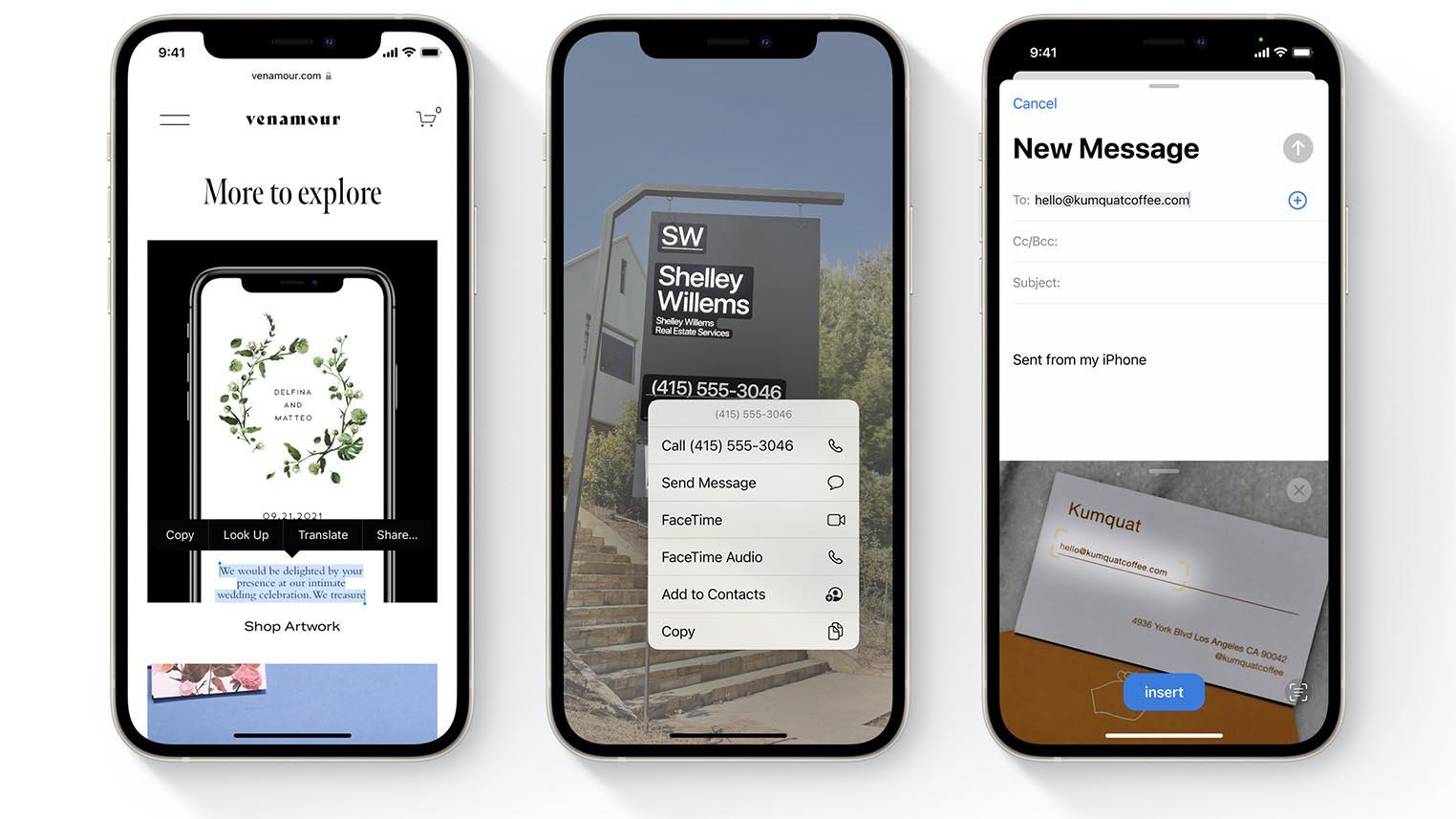 Texte en direct iOS 15