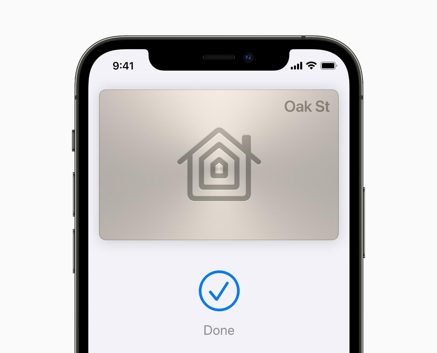 iOS 15 Wallet clé