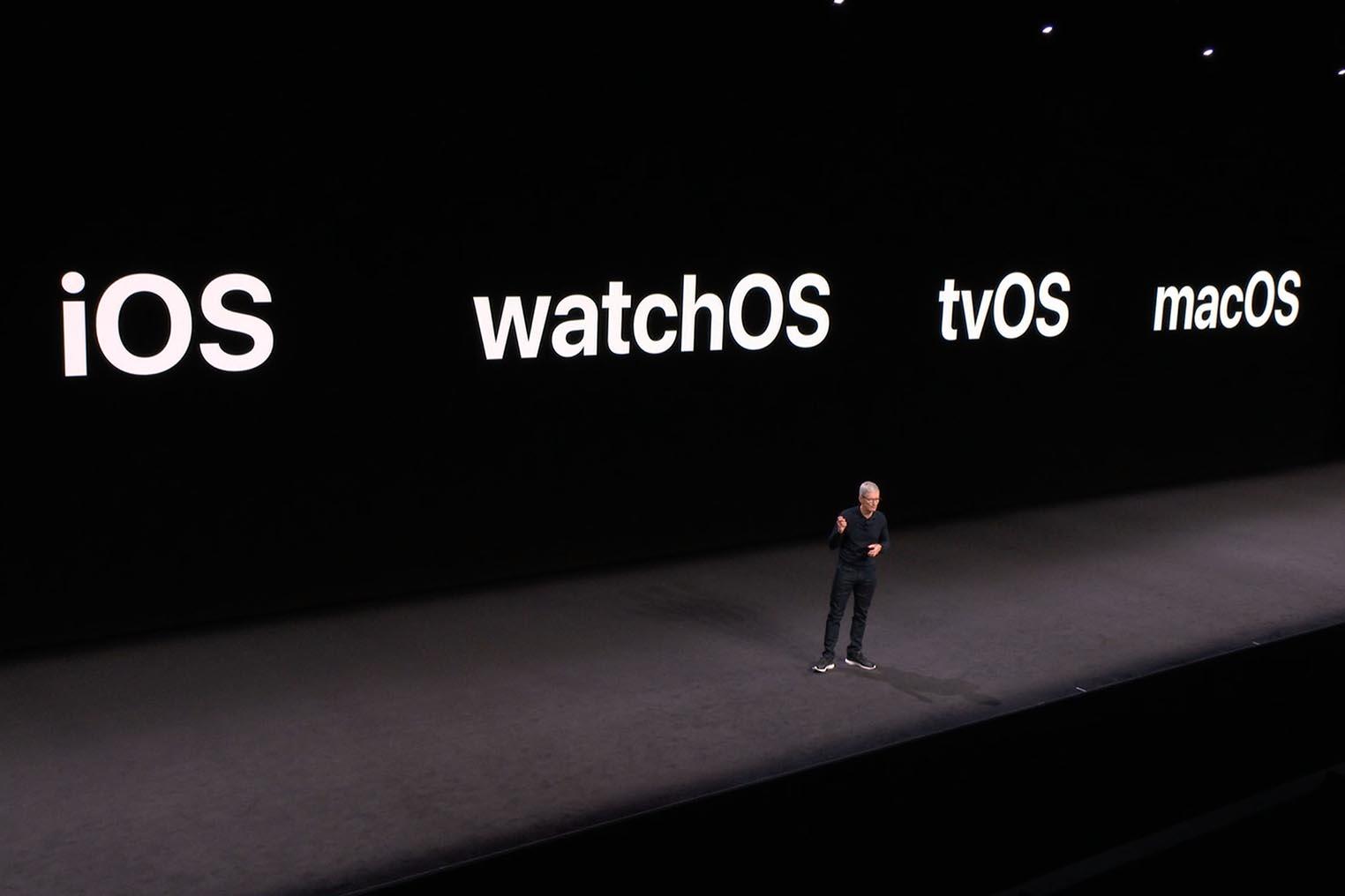 iOS macOS tvOS watchOS