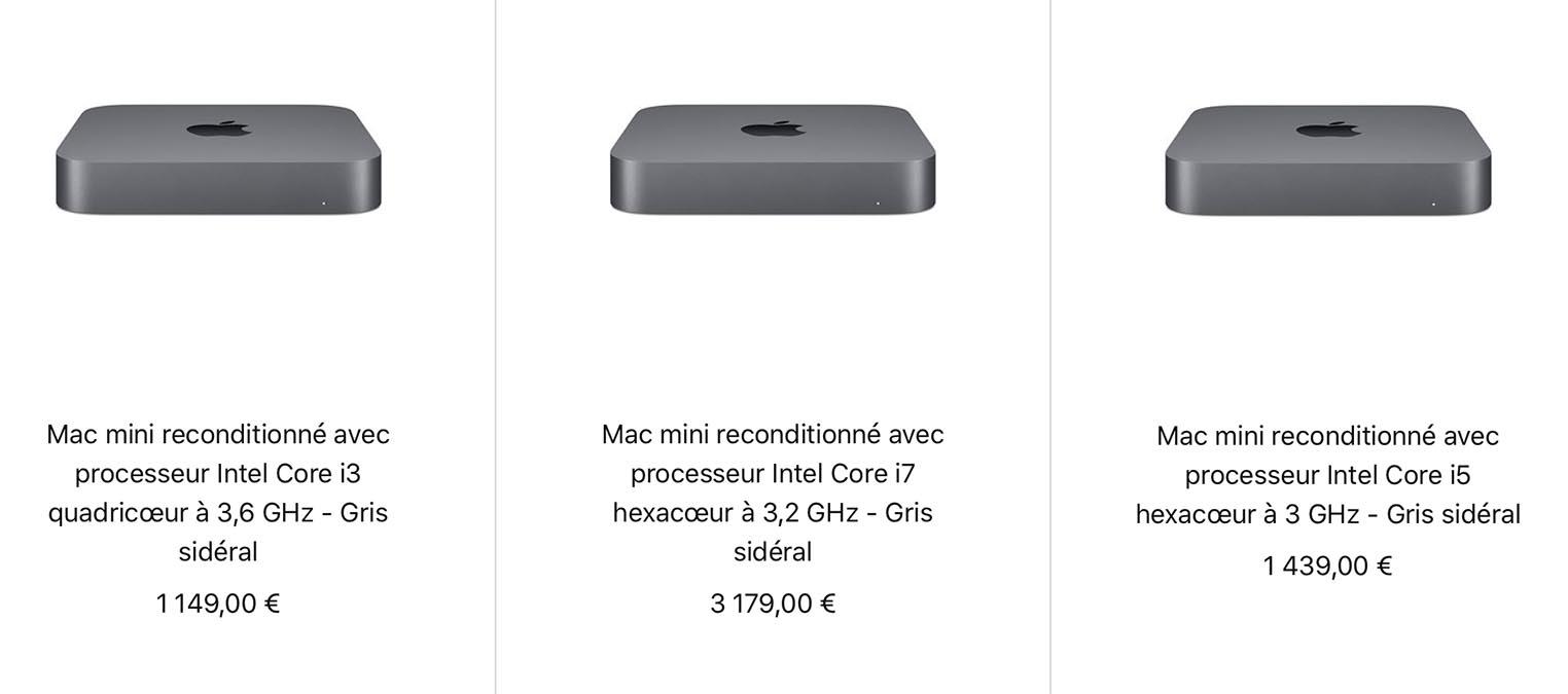 Nouveaux Mac mini 2018 Refurb Store
