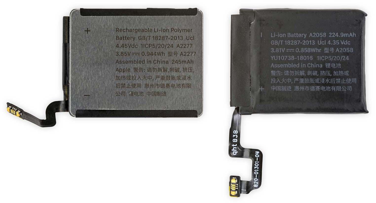 Batterie Apple Watch Series 5 40 mm iFixit