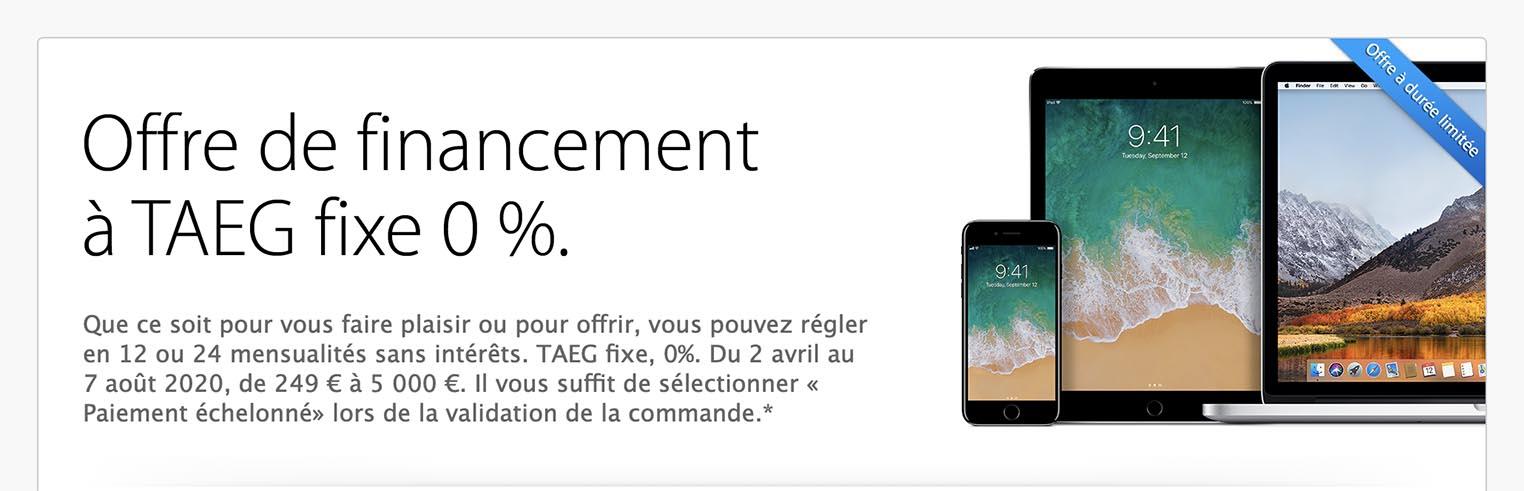 Crédit Apple 0%