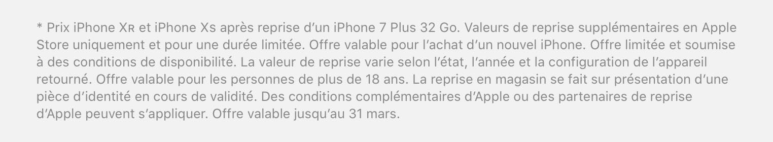 Apple offre de reprise iPhone