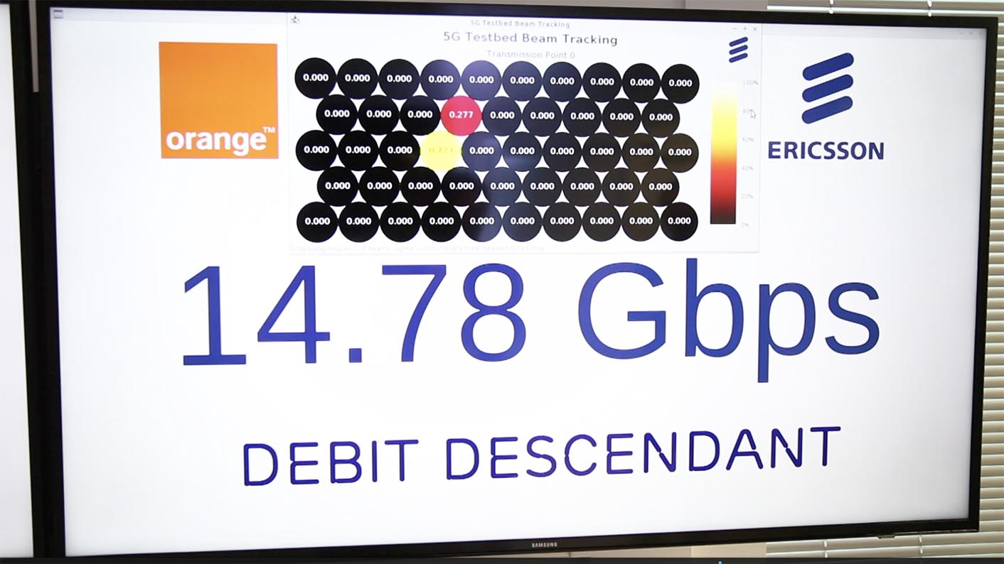 Ericsson: démonstration de débit au-delà de 10 Gbit/s.