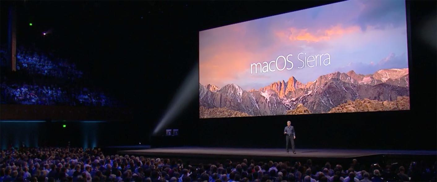 macOS 10.12 Sierra keynote