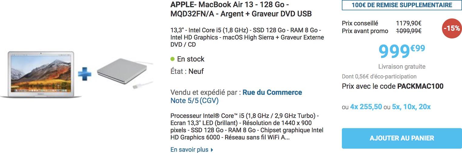 Pack MacBook Air SuperDrive Rue du Commerce