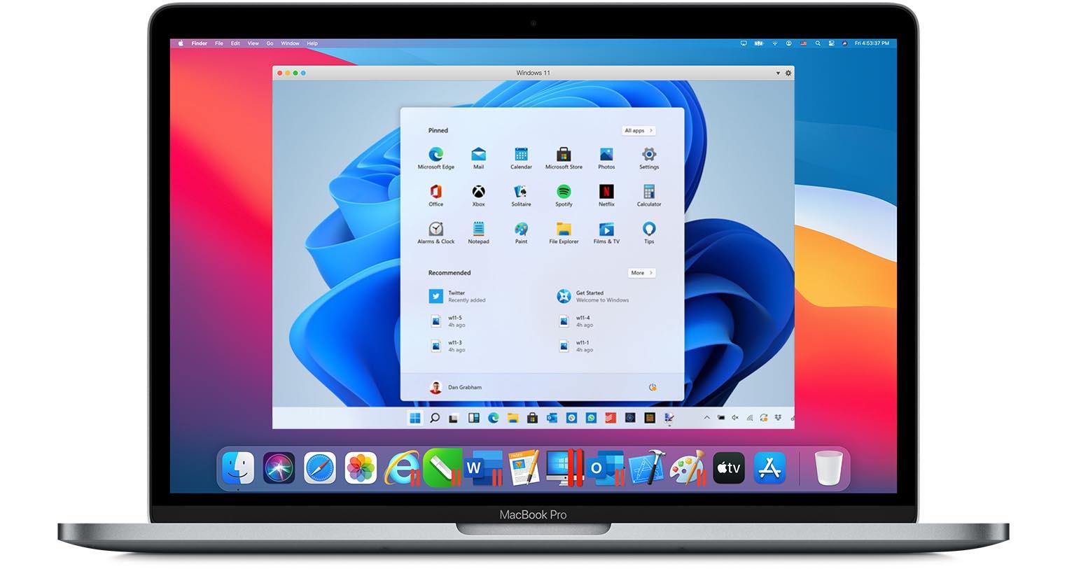 Parallels Windows 11 MacBook Pro