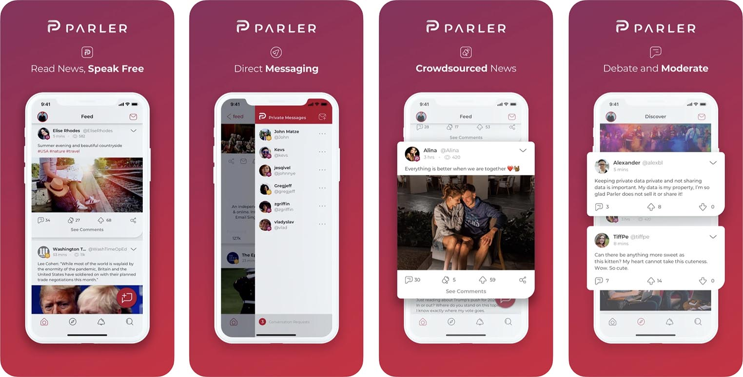 Application Parler App Store