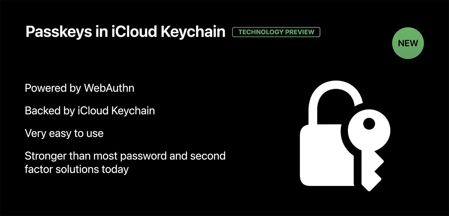 Passkeys in iCloud keychain