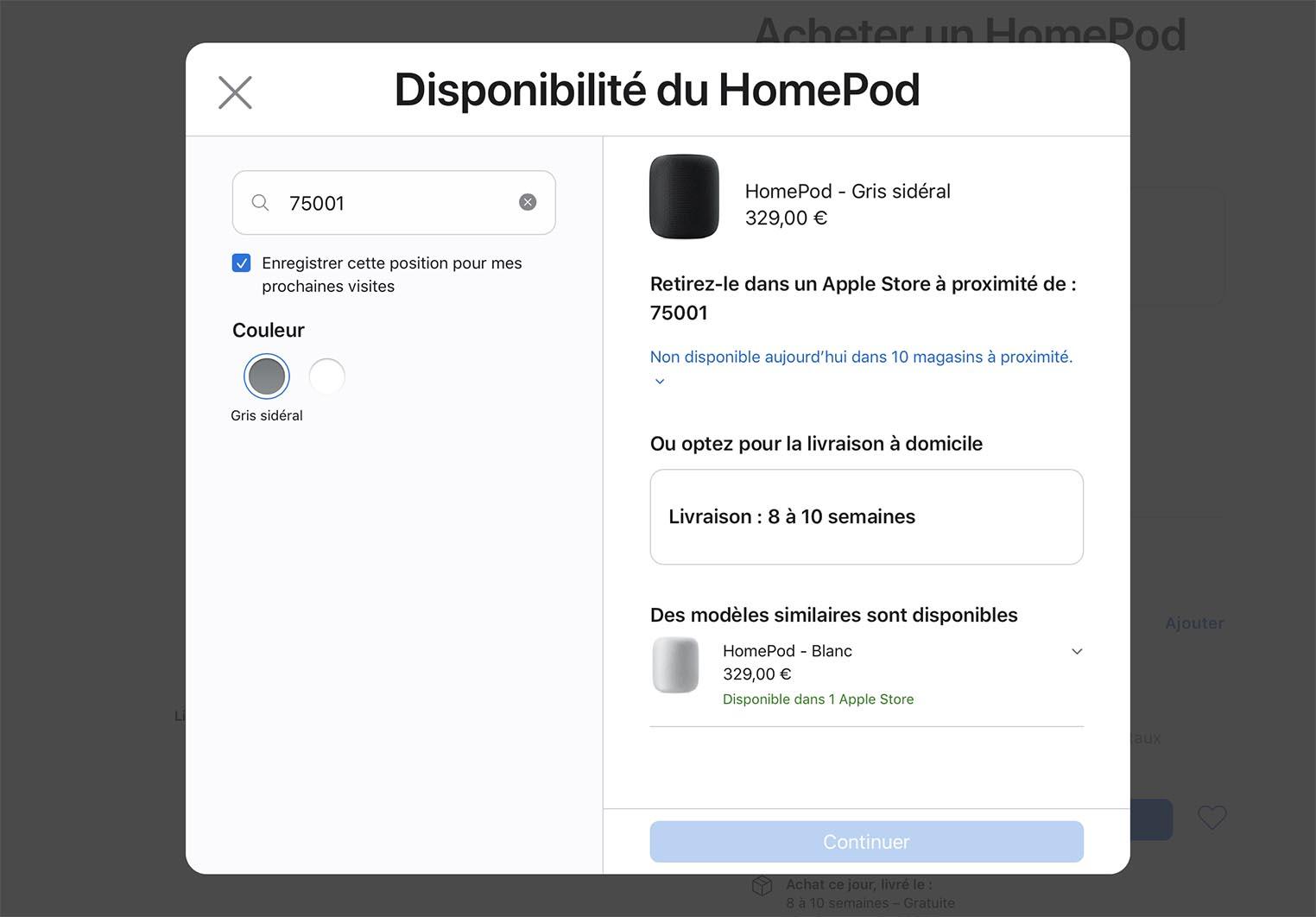 Pénurie HomePod noir France