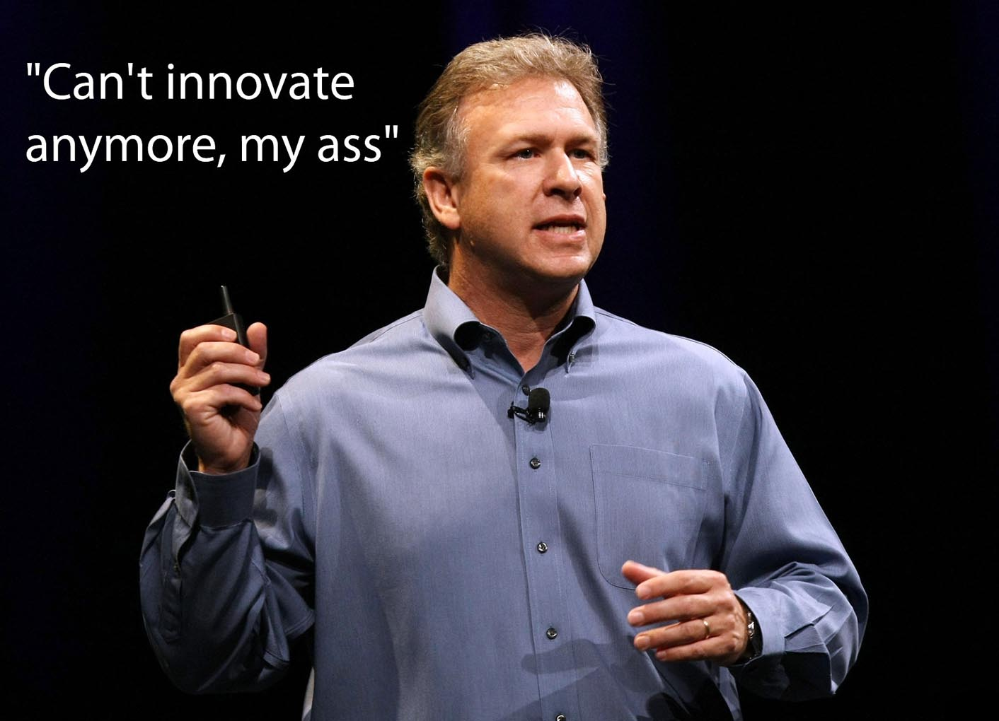 Phil Schiller can't innovate anymore my ass