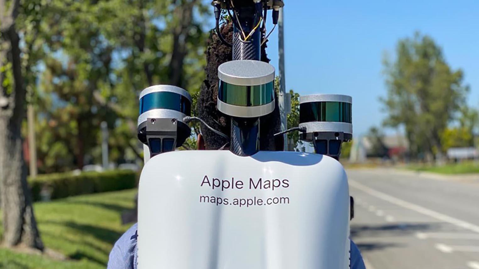 Sac à dos piéton Apple Maps