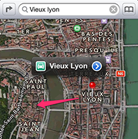 Apple Maps Lyon