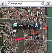 Apple Maps Lyon