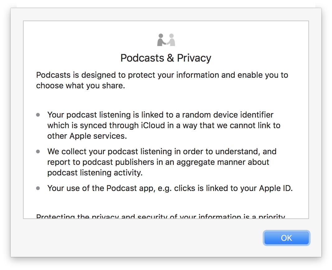 Application Podcast macOS 10.13.4