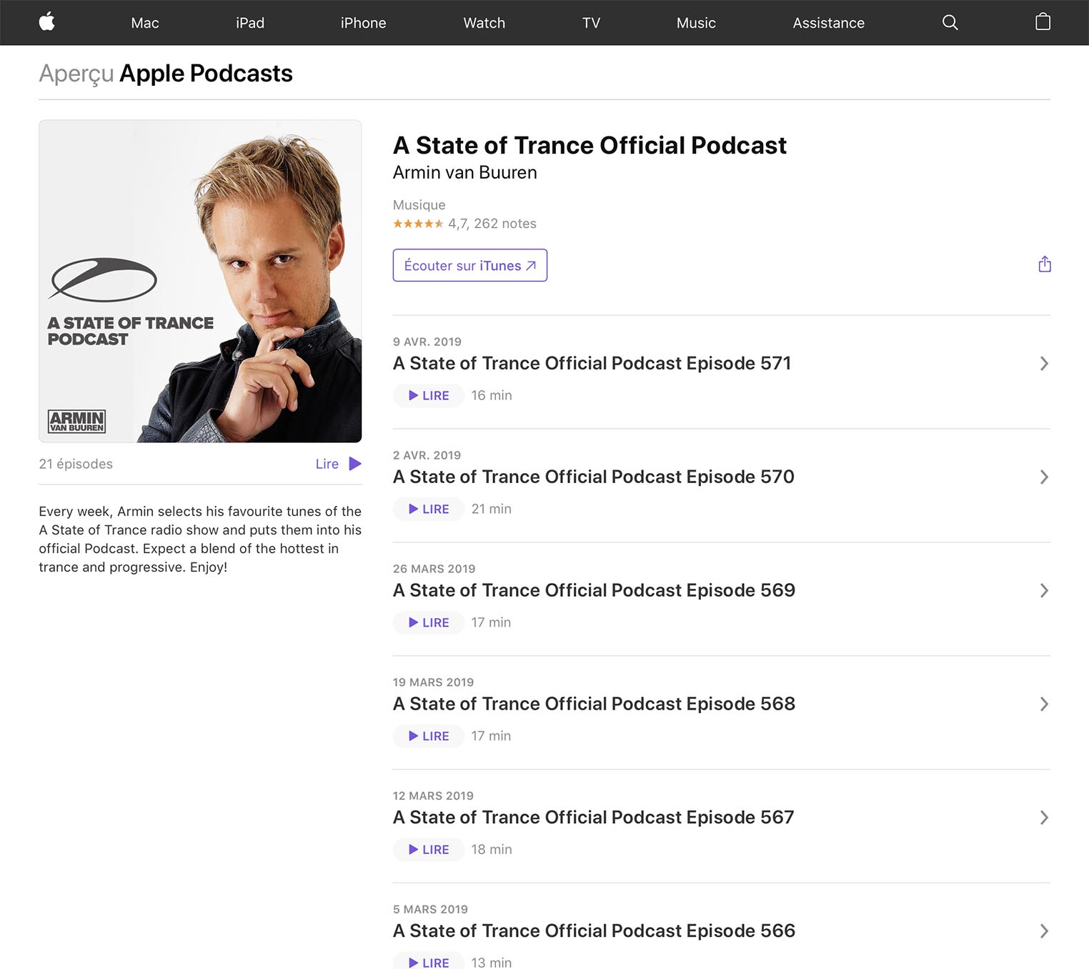 Apple Podcasts 2019