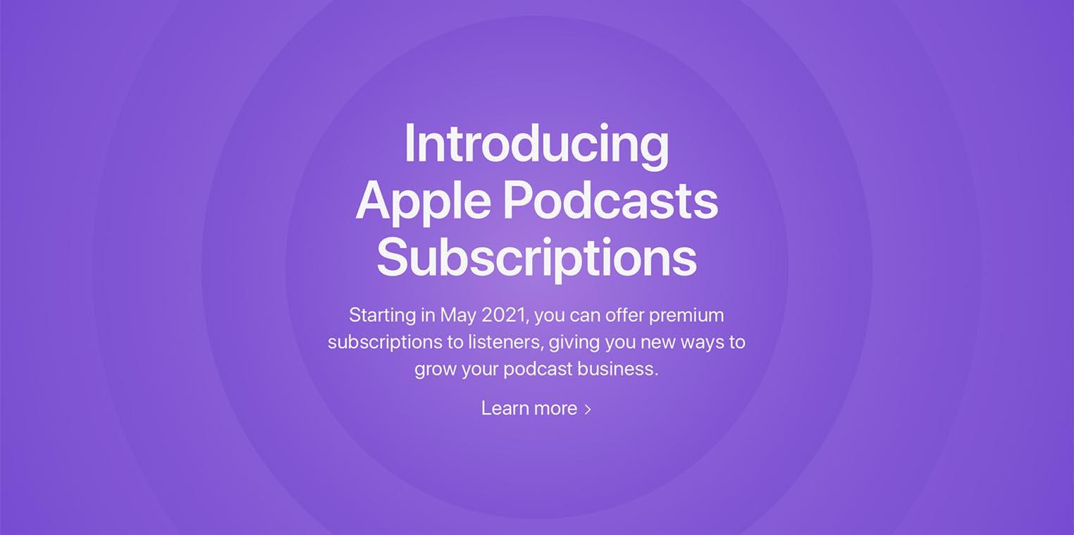 Abonnements Apple Podcasts mai 2021
