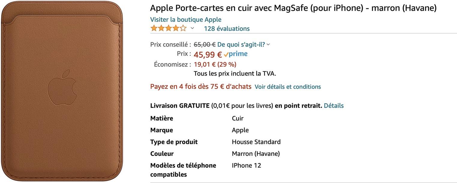 Porte-cartes MagSafe promo Amazon